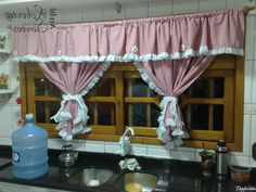 red and black kitchen curtains - Google Search