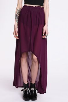 love this fishtail maxi skirt.