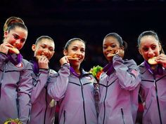 America's Fab Five Takes a Bite out of Gold - love Olympic Gymnastics