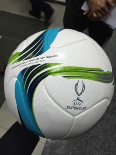 """The official match ball for tomorrow's Uefa Football, Sport Football, Football Players, Uefa Super Cup, Football Design, Football Shoes, Uefa Champions League, Soccer Ball, Soccer Stuff"