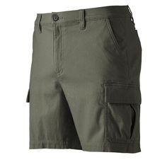Men's Croft & Barrow® True Comfort Classic-Fit Twill Performance Cargo Shorts, Dark Green