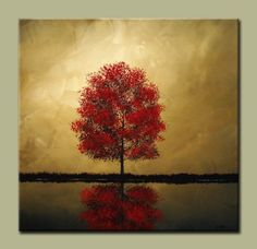 One Reflection. Lake Water Pond Contemporary Modern Art by drobart
