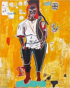 Jean-Michel Basquiat, Big Joy, He is a protagonist, along with Keith Haring, of the american graffiti. Robert Mapplethorpe, Robert Rauschenberg, Jean Michel Basquiat Art, Jm Basquiat, Basquiat Tattoo, Keith Haring, Pop Art Andy Warhol, Basquiat Paintings, Radiant Child