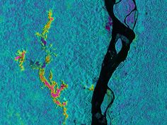 On March 17, 2013, NASA's Uninhabited Aerial Vehicle Synthetic Aperture Radar (UAVSAR) acquired synthetic aperture radar data over the Napo River in Ecuador and Peru.