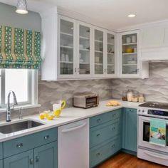 Кухни бирюзового цвета: более 50 фото примеров мебели и интерьеров