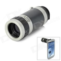 Zoom Telescope Lens w/ Back Case for Samsung - Black Silver Radar Detector, Silver Gifts, Samsung Galaxy S, Gadgets And Gizmos, Telescope, 1 Piece, Binoculars, Black Silver, Cell Phone Accessories