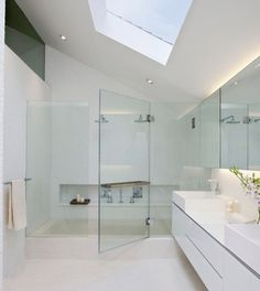 Bath/shower combo. Not sure how I feel about it. But interesting possibility!