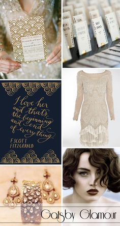 As themes go for a wedding a 1920's theme is so sophisticated and fun so bring out your dancing shoes and and your flapper dresses!