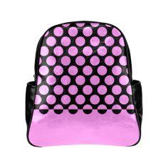 Custom bags, shoes and My Fb, Custom Bags, Pink Black, Color Change, Fashion Backpack, Polka Dots, Pockets, Artist, Model