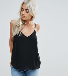 ASOS PETITE Swing Cami with Double Layer - Black Asos Petite, Petite Tops, Layering Trends, Trendy Fashion, Womens Fashion, Asos Maternity, Fashion Clothes Online, Going Out Tops, T Shirts For Women