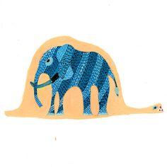 Little prince. Blue elephant inside a boa. #boaconstrictor #littleprince #gond
