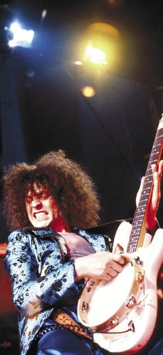 T. Rex, with Marc Bolan on guitar and GLAMbourine