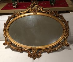 Great Grandma's Mirror. Need to refinish. Thinking of hanging in Master Bedroom over dresser.