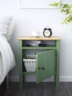 Add some personality to your bedroom with an IKEA HURDAL nightstand! The HURDAL series is made of solid pine, which shows off the attractive grains and beauty mark knots that make each piece unique!