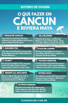 O que fazer em Cancun e Riviera Maya - Roteiro de Viagem de 7 ou 15 dias Save 70 to 80 % on Resort to Cancun, Cabo, Orlando etc. Cancun Mexico, Riviera Maya Mexico, Travel Words, Places To Travel, Travel Destinations, Travelling Tips, Travel List, Tulum, Playa Del Carmen
