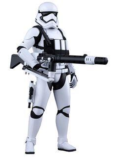 Figura soldado Stormtrooper con arma pesada 30 cm. Star Wars Episodio VII. Línea Movie Masterpiece. Escala 1:6. Hot Toys Estupenda figura del conocido soldado imperial Stormtrooper de 30 cm, totalmente articulada a escala 1:6, fabricada en material de PVC, con accesorios y 100% oficial y licenciada. Una pieza imprescindible en tu colección de merchandising de la saga de Star Wars.