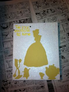 Belle canvas! Beauty and the Beast Disney Princess Canvas craft