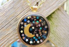 A personal favorite from my Etsy shop https://www.etsy.com/listing/492957962/moon-and-stars-large-resin-pendant