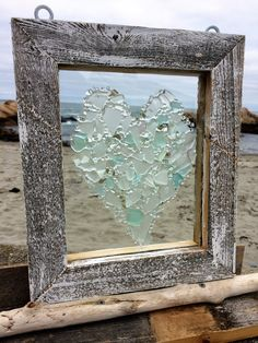 10 X 11 Sheer elegance . All frosty clear sea glass with lots of texture and sparkle. The sparkle is from bits of recycled mirror. Assented with tiny white shells. Perfect for a unique wedding gift or of course Valentines day.