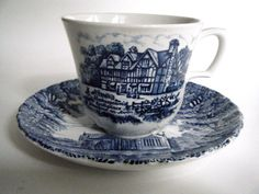 Royal Essex Stoneware Cup & Saucer Shakespear's Birthplace Trinity Church #RoyalEssex