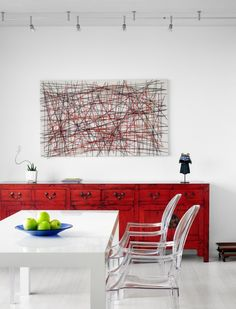 .Beautiful sideboard! simplicity rather boldly stated ;)