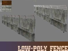 Download Lowpoly fence free 3D model or browse 777 similar Lowpoly fence 3D models. Available in max, obj, fbx, 3ds and other formats. Browse 140000+ 3D Models on CGTrader.