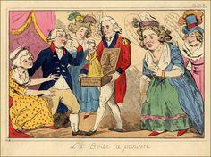 Caricature: Pandora's Box  Marie-Antoinette, une reine impopulaire puis honnie.  Marie Antoinette an unpopular and despised queen.