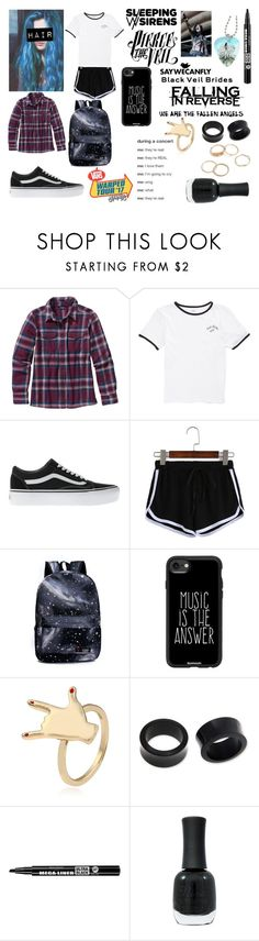 """""""WARPED TOUR!!!!"""" by nicoleslav ❤ liked on Polyvore featuring Patagonia, Vans, Casetify, NOVICA, Bourjois, Charlotte Russe and Hot Topic"""