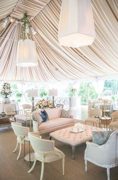 Legende Giving Guests a Comfy Spot to rest their feet de Gournay Dreams – Dekoration Wedding Lounge, Tent Wedding, Wedding Reception Decorations, Wedding Guest Book, Wedding Events, Dream Wedding, Wedding Ceremony, Aisle Decorations, Wedding News