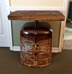 Farmall Tractor Side Table by RustReclaimed on Etsy