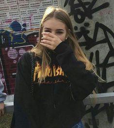 thrasher isn't just for year old boys who skate Aesthetic Grunge, Aesthetic Girl, Urban Aesthetic, Aesthetic Beauty, Aesthetic Fashion, Tumblr Photography, Photography Poses, Photography Aesthetic, Nature Photography