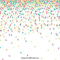 Fundo colorido confetti Vetor grátis