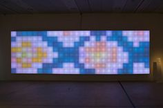 Danish Design Centre	 	  	 	 	 	 		 	 	   Project details   Year: 2006   'Honey I'm Home'   Waltzing. Light tapestry 2.10 x 6.8 metres x 20 cm