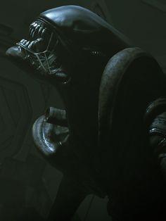 Arte Alien, Alien Art, Alien Vs Predator, Ridley Scott Movies, Hr Giger Art, Metal Sculptures, Wood Sculpture, Bronze Sculpture, Giger Alien