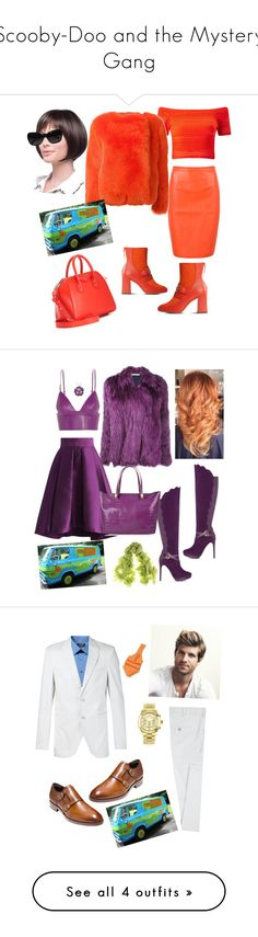 Scooby-Doo and the Mystery Gang by loveisablindwar on Polyvore featuring polyvore, mode, style, WithChic, Boutique Moschino, Chanel, Miss Selfridge, Preen, Givenchy, fashion, clothing, Balenciaga, Chicwish, ShoeDazzle, T By Alexander Wang, Roberto Cavalli, Black, Amanda Rose Collection, Apt. 9, Neil Barrett, Forzieri, Cole Haan, Michael Kors, men's fashion, menswear, Topman and Stacy Adams
