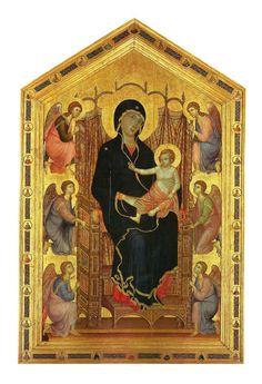 """Duccio di Boninsegna """"Madonna Rucellai"""" o """"Madonna dei Laudesi"""" (ca. 1285) Firenze, Galleria degli Uffizi"""
