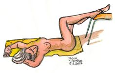 """Nude Drawing in the """"Galerie Nothburga"""" in Innsbruck on January 8th, 2017"""