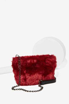 Nila Anthony Cruella Faux Fur Crossbody Bag - Accessories