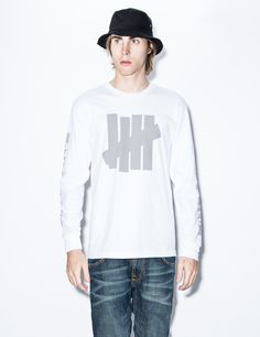 UNDEFEATED White Caution L/S T-Shirt