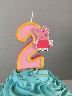 3 inch tall sparkly Peppa Pig birthday candle - any number #babyshowerideas4u #birthdayparty #babyshowerdecorations #bridalshower #bridalshowerideas #babyshowergames #bridalshowergame #bridalshowerfavors #bridalshowercakes #babyshowerfavors #babyshowercakes