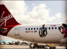 Pairing up with Virgin Airlines for advertising and branding