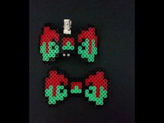 Perler bead zombie hair bow and necklace matching set by LunaKnitsByRina on Etsy