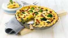 Tacopai med kjøttdeig - Oppskrift fra TINE Kjøkken Quiche, Feta, Recipe Boards, Culinary Arts, Broccoli, Bacon, Food And Drink, Breakfast, Recipes