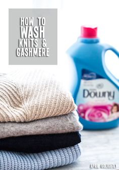 Tutorial with tips on how to wash cashmere sweaters at home so that they look and feel great season after season with @downy  #FabricConditioner #ad