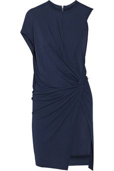 Helmut Lang Twist-front stretch-jersey dress   THE OUTNET