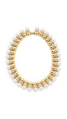 Kenneth Jay Lane Imitation Pearl Collar Necklace