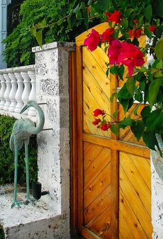 Entrance to 'The Gardens' boutique hotel - Key West