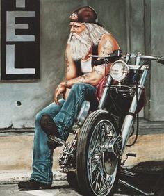 Harley Davidson- looks like a David Mann Motos Harley Davidson, Bobber Custom, Custom Motorcycles, Custom Choppers, Triumph Motorcycles, Vintage Motorcycles, Custom Bikes, Motorcycle Art, Bike Art