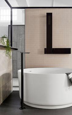 Minimalist Bathroom // T.D.C | Artedomus Showroom By Studio You Me And  Thomas Coward Bath