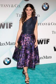 Women In Film 2015 Crystal + Lucy Awards - Sandra Bullock in Monique Lhuillier.
